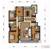 万科蓝山4室2厅2卫213平方米户型图