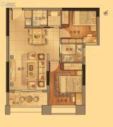 御景江南2室2厅1卫71平方米户型图