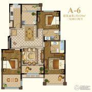 恒辉假日广场3室2厅2卫125平方米户型图