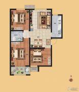 香榭丽都3室2厅1卫99平方米户型图