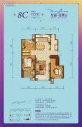 龙湖名景台3室2厅1卫115平方米户型图