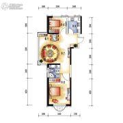 中央学府2室2厅1卫85平方米户型图