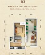 东韵华府2室1厅1卫39平方米户型图