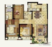 升龙天汇3室2厅3卫98平方米户型图