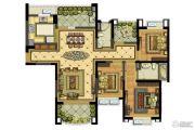 雅居乐滨江国际3室2厅2卫138平方米户型图