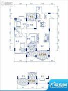 华西・滨江花苑3室1厅2卫135平方米户型图