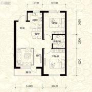 雍华御景2室2厅1卫81平方米户型图