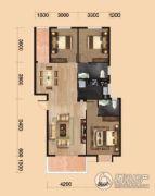 中环坐标城3室2厅2卫117平方米户型图