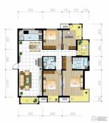 北京城建・世华泊郡4室2厅2卫158平方米户型图