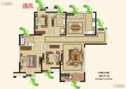 枫林天下3室2厅2卫125--127平方米户型图