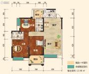 幸福东郡3室2厅2卫124平方米户型图