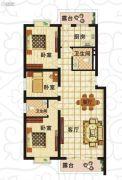 北岸晏城3室1厅2卫111--118平方米户型图