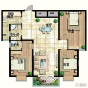 华宁春天3室2厅2卫148平方米户型图