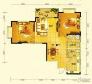 春天印象二期2室2厅1卫87平方米户型图