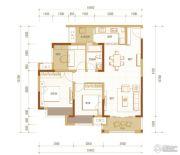 金科时代中心3室2厅1卫80平方米户型图