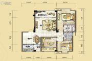 汇川喜来公社3室2厅2卫109平方米户型图