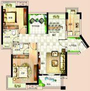 依岸康堤3室2厅2卫84平方米户型图