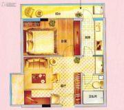 紫晶国际广场1室1厅1卫51平方米户型图