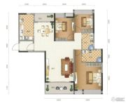 星尚3室2厅2卫122平方米户型图
