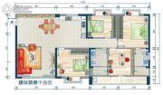 鑫海大厦3室2厅2卫124--150平方米户型图