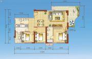 海岸国际假日花园3室2厅0卫124--146平方米户型图