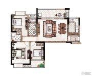 蓝惠首府3室1厅2卫114平方米户型图