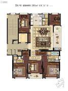 滨江保利・翡翠海岸5室2厅3卫191平方米户型图