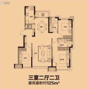 恒大盛京印象3室2厅2卫125平方米户型图