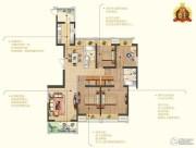 苏宁睿城4室2厅2卫176平方米户型图