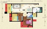 盛世天彭2室2厅1卫76平方米户型图
