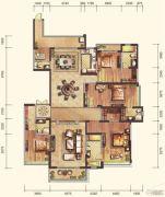 雅居乐・御宾府4室3厅4卫339平方米户型图