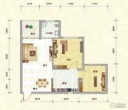 中泰名园2室2厅1卫72平方米户型图