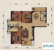 海韵国际城3室2厅2卫116平方米户型图