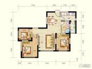 蓝光天娇城3室2厅1卫67平方米户型图
