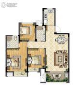 华宇林泉雅舍3室2厅2卫98平方米户型图