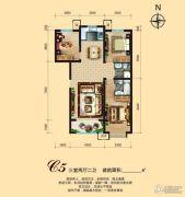 锦绣鹏城3室2厅2卫0平方米户型图