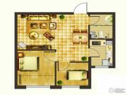 楚盛现代城2室1厅1卫67平方米户型图