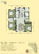 汇锦庄园3室2厅2卫0平方米户型图
