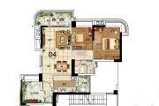悦盈新城2室2厅1卫83平方米户型图