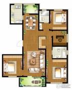 朗诗・新北绿郡4室2厅2卫155平方米户型图