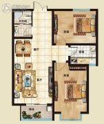 海山广场2室2厅2卫86平方米户型图