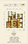 银河太阳城四期3室2厅2卫125平方米户型图