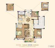 祥生悦山湖3室2厅2卫120平方米户型图