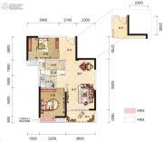 博大星光国际2室2厅1卫82平方米户型图
