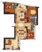 华远华中心4室2厅3卫253平方米户型图