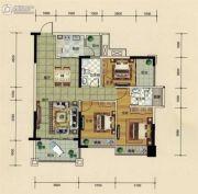汇源新都3室2厅2卫98平方米户型图
