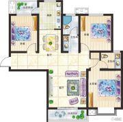 新美城上领地3室2厅2卫126平方米户型图