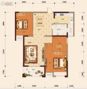 宏维・山水明城・卧龙苑3室2厅1卫103平方米户型图