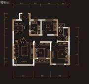 奥克斯城市之光3室2厅1卫97平方米户型图