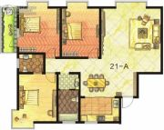 东方明珠3室2厅2卫151平方米户型图
